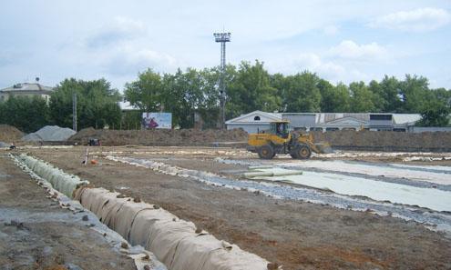 Один из этапов реконструкции стадиона
