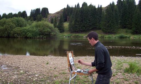 Больше всего Владимиру нравится рисовать уральскую природу