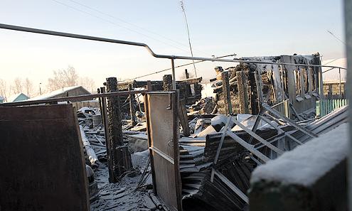За час с небольшим дом сгорел дотла