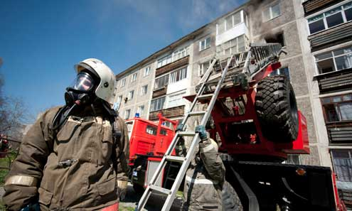 Пожарные оперативно справились с огнем