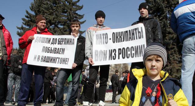Первоуральские коммунисты протестуют против «вражеских» войск