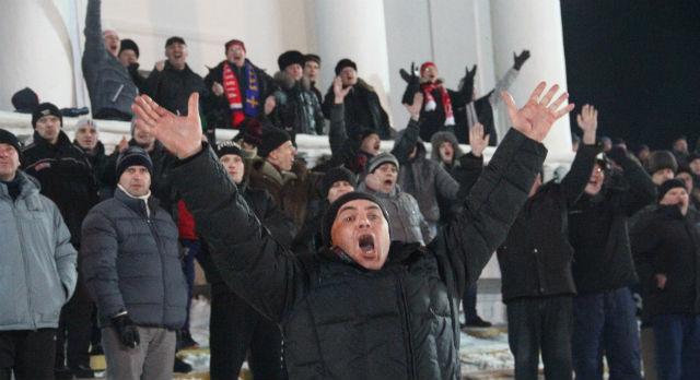 """Первый гол в воротах """"Енисея"""". Забил его Евгений Сысоев."""