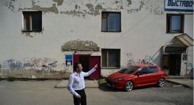 Площадь фасада, который предстоит расписать 157,5 кв.м.