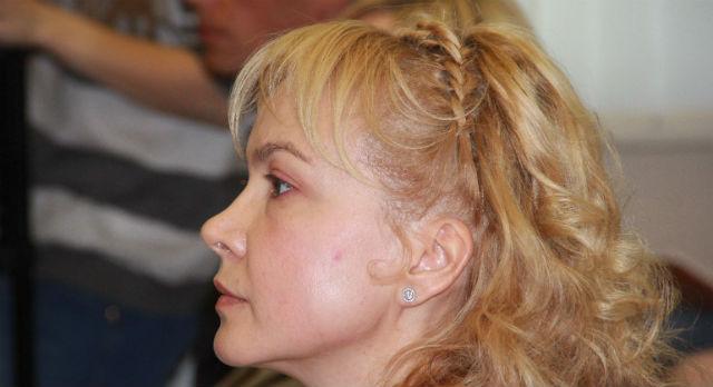 Аксана Панова в зале суда