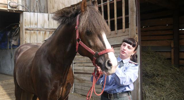 Александра Матигулина в седле с 9 лет. Считает, что кавалерия — ее призвание.