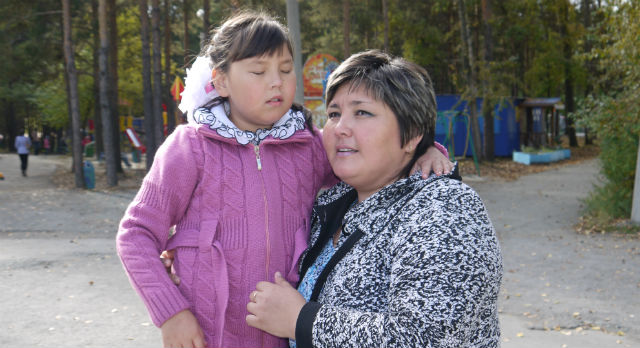Юлия Дельмухаметова и ее мама Валия