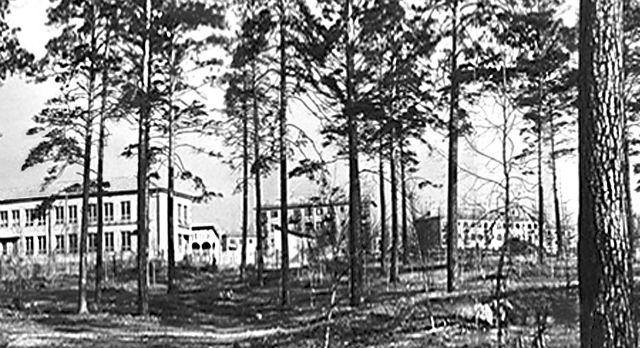 Корабельная горка, 1964 год. В левой части снимка школа №10, на заднем плане детский сад №57. Фото из архива треста УТТС.