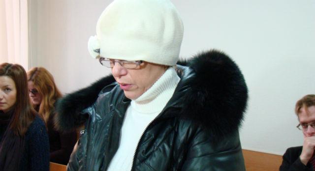Татьяна Самойлова в зале суда