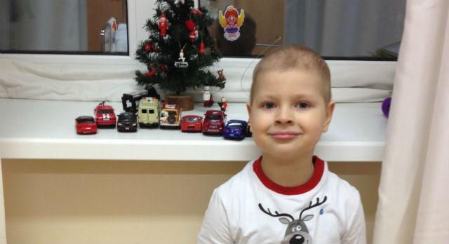 На этом снимке Никите четыре года. Прошлый Новый год он встречал в больнице в России. Этот Новый год он отметит уже в Израиле