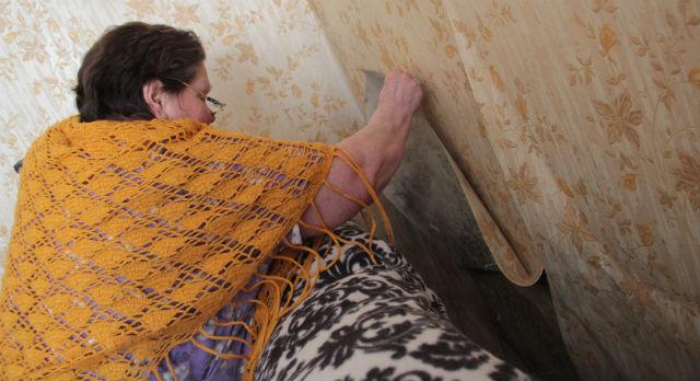 Жители дома №27 по улице Папанинцев уже два года вынуждены жить с плесенью на потолках и стенах. Общее состояние дома обесценивает любой косметический ремонт.