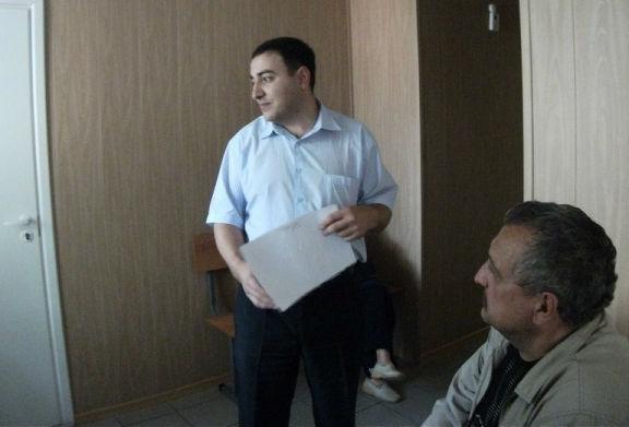 Тигран Симонян в зале Серовского суда