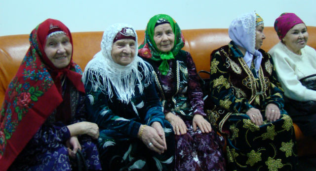 "Прихожанки мечети ""Сабр"". Фото ©Татьяна Курганова"