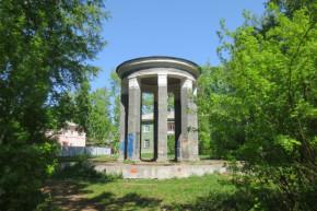 Чудом сохранившаяся парковая ротонда — единственная на весь город
