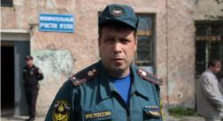 Начальник 10 отряда федеральной противопожарной службы Андрей Чернышев. Фото Анны Неволиной