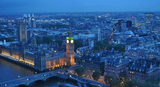 """Вид на Лондон с одного из крупнейших в мире колес обозрения """" London Eye"""" Фото предоставлено Игорем Цалером"""