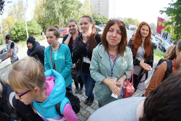 Участники фотокросса внимательно слушают правила перед стартом  Фото Александра Галицких