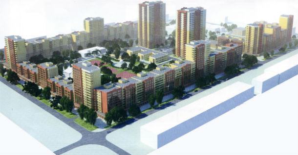 Вот так, по замыслу застройщика, будет выглядеть новый микрорайон на ул. Трубников-Чкалова-Школьная