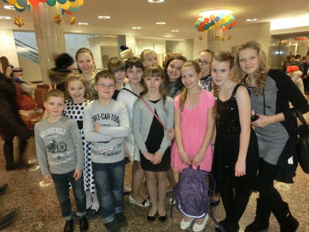 Организаторы концерта позаботились об участниках конкурса и предоставили им билеты на главную елку страны Фото предоставлено Ольгой Солиной