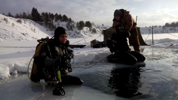 После бассейна первоуральские дайверы отправились на Сухореченский карьер в Билимбае — нырять под лед Фото предоставлено Игорем Штыменко