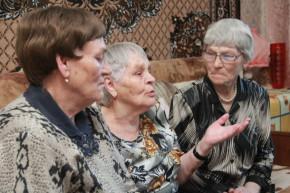 Сестры Мария Галицких, Серафима Дыбова и Таисия Татаринова Фото Анны Неволиной