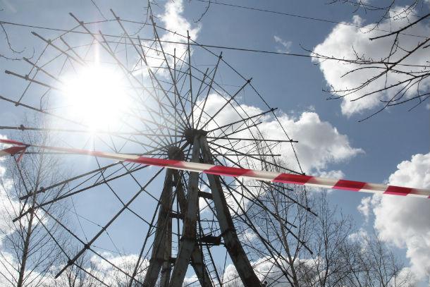 Старое колесо обозрения было демонтировано месяц назад. Фото Анны Неволиной
