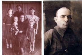 Семья Георгия Анкудинова (1942 год) и Георгий Анкудинов (1941 год) Фото предоставлено Ниной Калясниковой