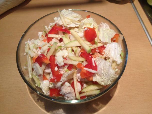 """А вот так салат """"Безымянный"""" выглядит готовым. Фото Юлии Королевой"""