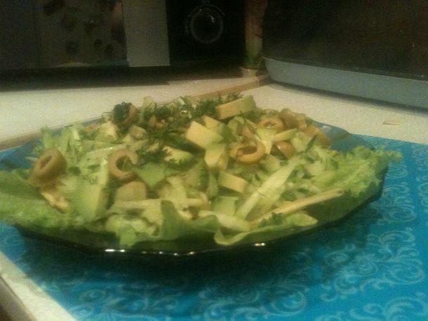 Вот такой салат получается в итогеФото Оксаны Розум