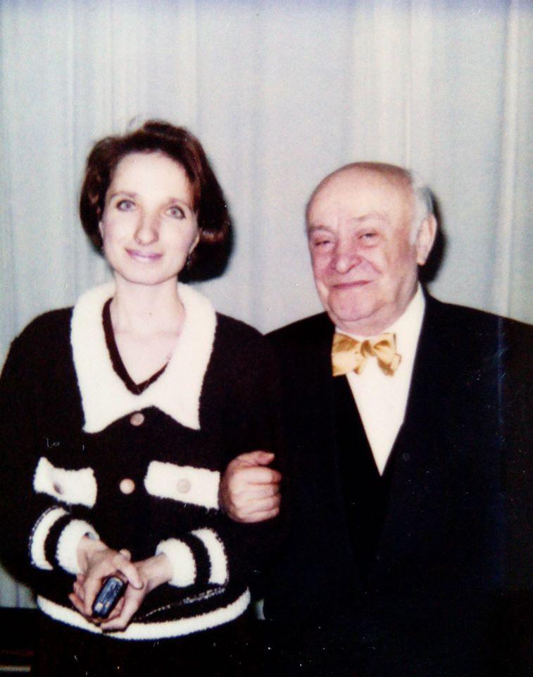 Елена Красулина и Ролан Быков. 1996 год Фото из семейного архива Елены Красулиной