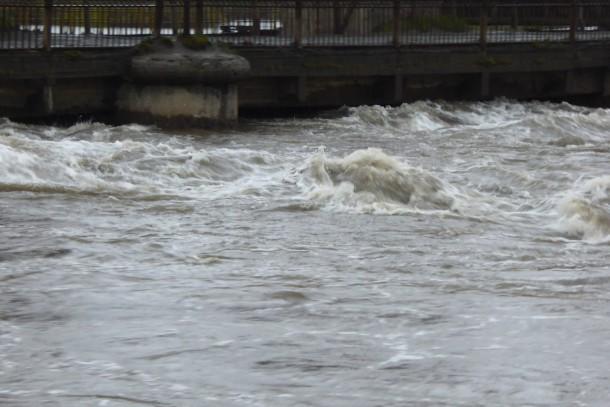 Река Чусовая в районе Сажинского  моста Фото Анны Боковец