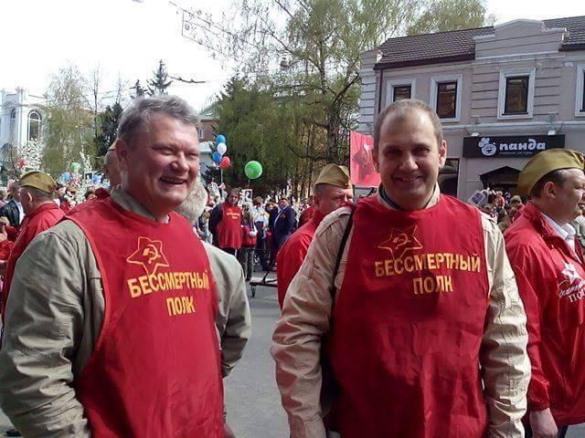 Инициатор из Томска Сергей Лапенков (справа)