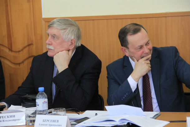 Валерий Трескин и Алексей Берсенев (справа) Фото из архива редакции
