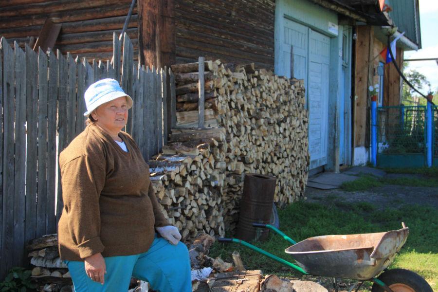 Жительница Черемши Марина Арефина Фото Анны Неволиной