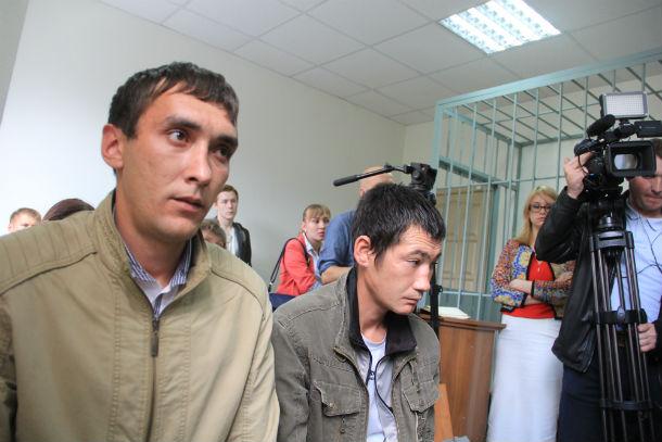 Артур Гайнутдинов (слева) и Сергей Гарипов поплатились за необычные гастрономические пристрастия Фото Анны Неволиной