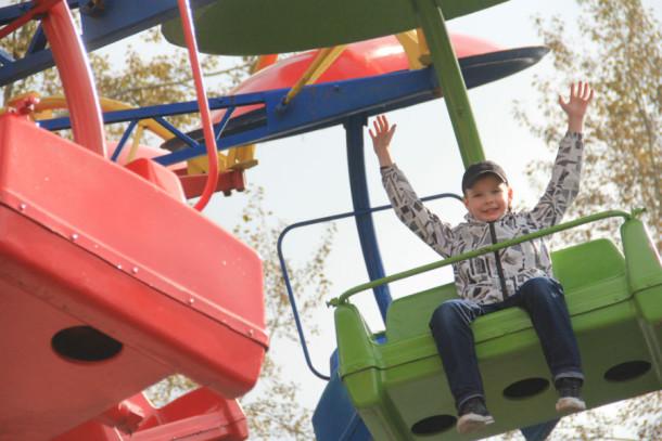 Испытатель парка Сергей Демин, 8 лет  Фото Анны Неволиной