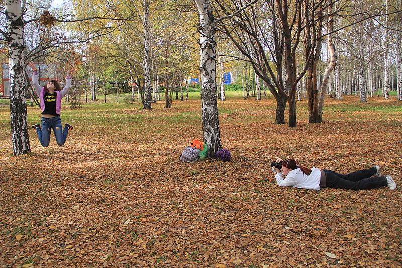 Екатерина Абыстракова за работой Фото Анны Неволиной
