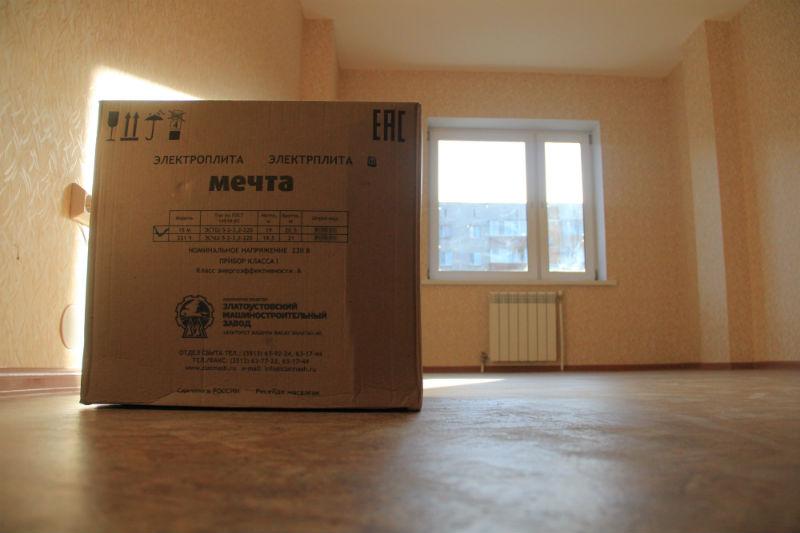 Каждой семье администрация города подарила по двухкомфорочной электрической плитке. Газа в доме нет