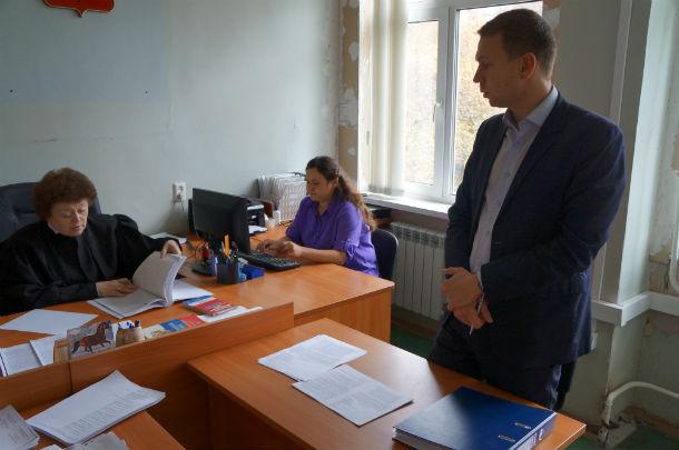 Судья и представитель Стулина Александр Филатов Фото Андрея Попкова