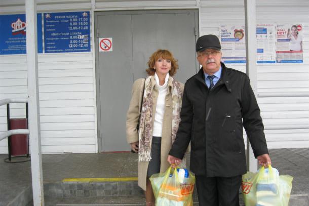 Начальник первоуральского Николай Козлитин и пресс-секретарь ведомства Лариса Чертищева Фото предоставлено пенсионным фондом