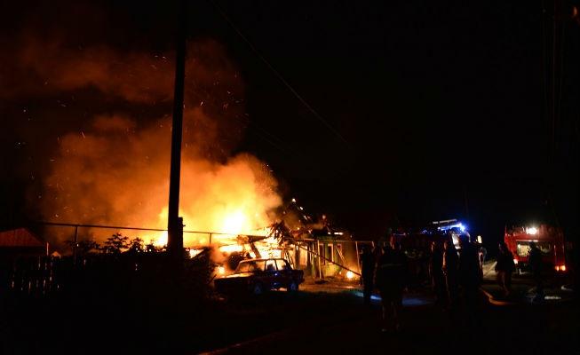 Так горел дом Зинаиды Балабановой Фото с сайта revda-info