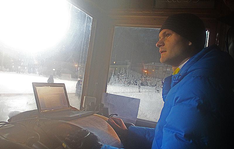 Судья-секретарь Максим Поскребышев Фото Анны Неволиной