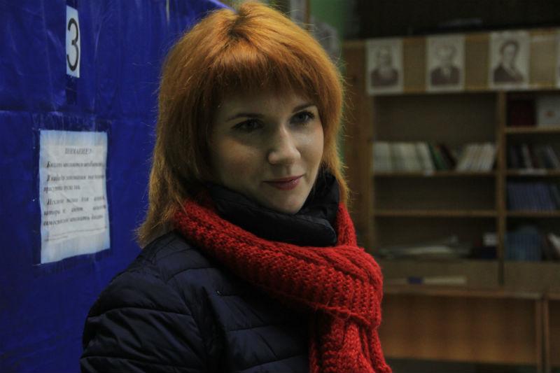 Председатель Первоуральской молодежной избирательной комиссии Евгения БатуеваФото Анны Неволиной