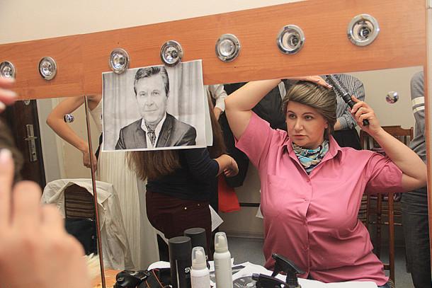 Ольга Тагилцьева в образе Льва Лещенко Фото Анны Неволиной