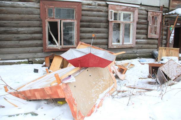 Сейчас дома на Хромпике почти полностью подготовлены к сносу   Фото Анны Неволиной