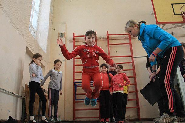 «Спартакиады юных чемпионов ГТО»  в школе № 20  Фото Анны Неволиной