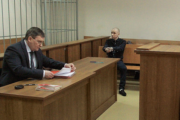 Максим Бобрикович в зале суда  Фото Анны Неволиной