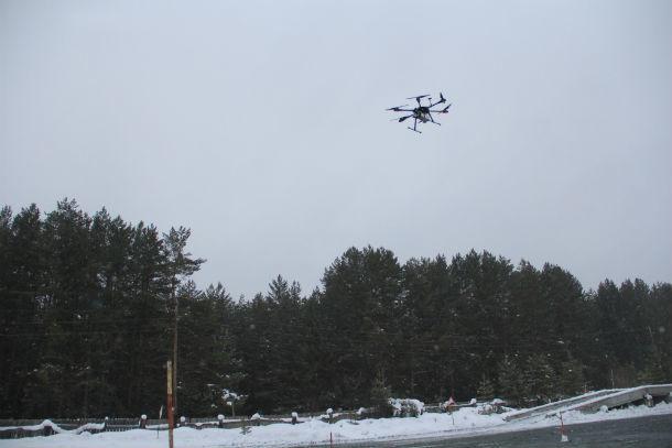 БПЛА ЦЗ-690 может летать без перерыва 40 минут. Для аппаратов этого класса - результат неплохой Фото Анны Неволиной