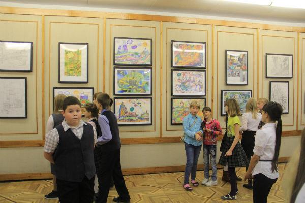 Выставка школы юного архитектора  Фото из архива редакции