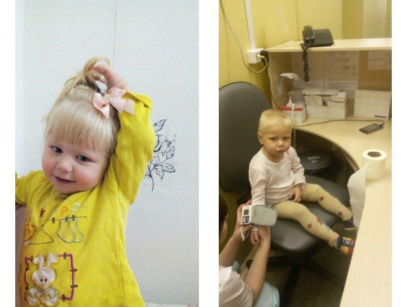 Раньше Ксюша любила заплетать косички, сейчас тоже просит маму сделать ей прическу, только вот волосы из-за болезни пришлось остричь Фото из архива семьи Шнейдер