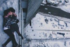 """На фото Лола Мингбоева и Данил Кирьяков. Фотосессия проходила на крыше комплекса """"Призма""""   Фото Ярослава Вотякова"""